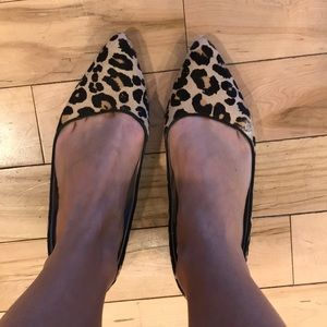 Cole Haan Leopard Haircalf Skimmers